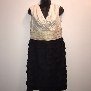 LONDON TIMES Layered/Ruffle Cocktail Dress~sz 10~